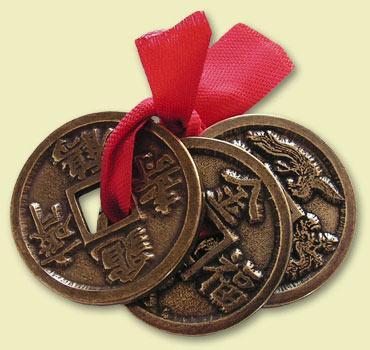 Feng Shui Glücksmünzen 356 Alte Symbole Anhänger Schmuck
