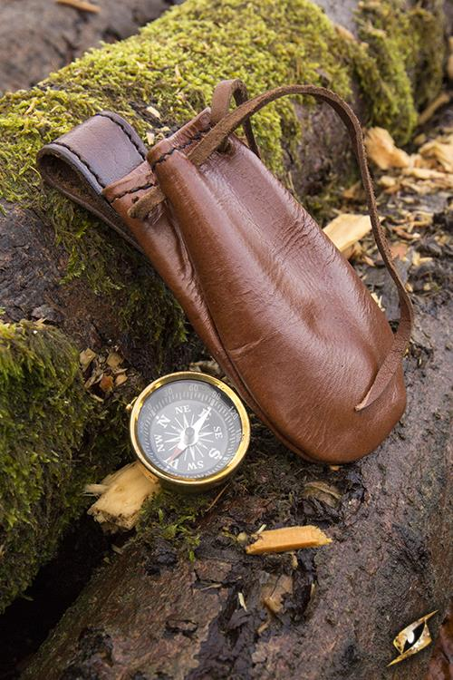 Compass - w. Leather Pouch