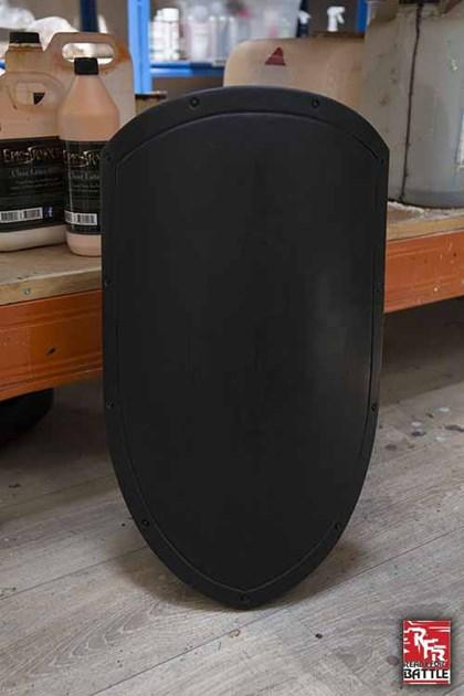 Uncoated small Kite Shield