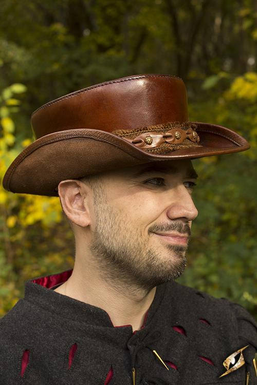 Top Hat, Leather, Brown